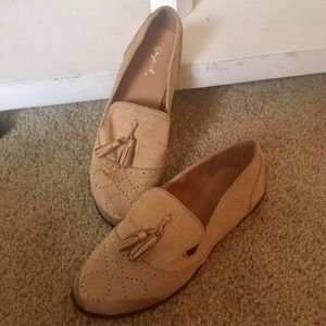 Suede Loafers, Tan